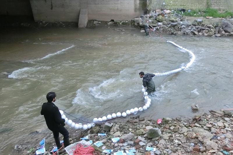 نصب آزمایشی تور زباله گیر