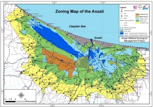 Zoning map of the anzali
