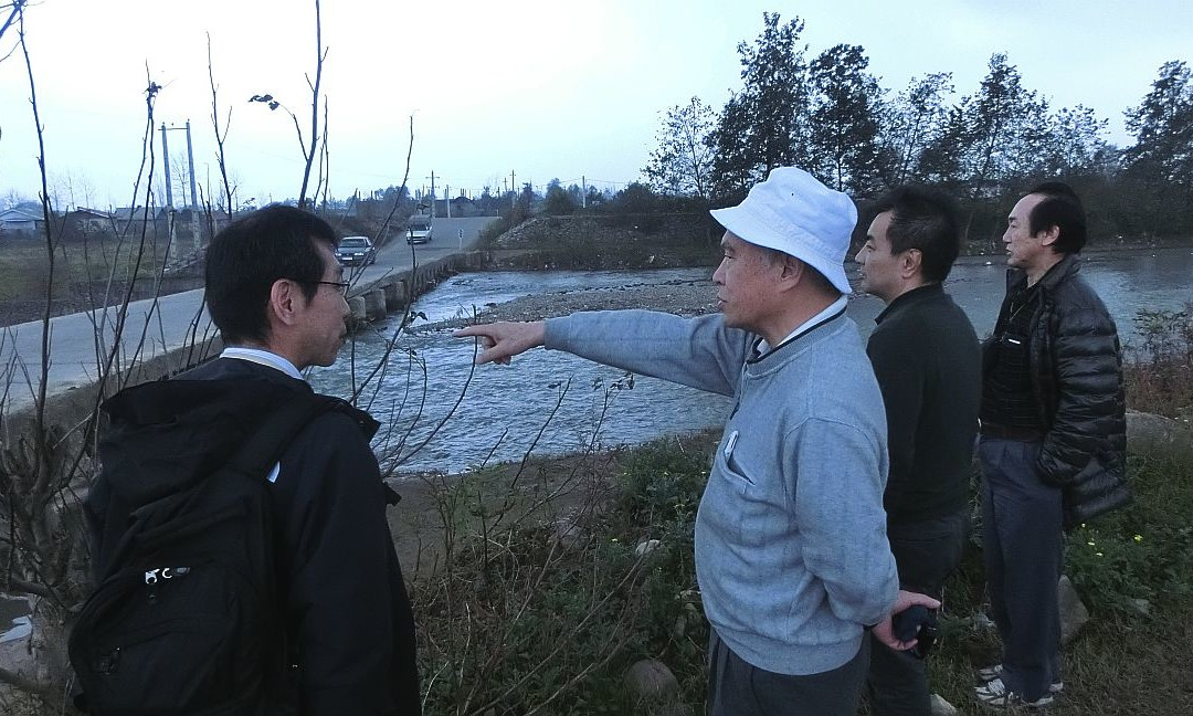 Three Senior Experts from Nippon Koei Visited the Project Site
