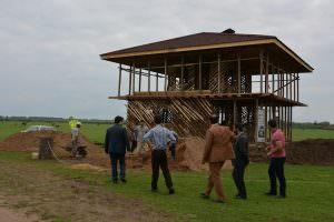 مرکز اجتماعات در حال ساخت روستای جیرسر باقر خاله