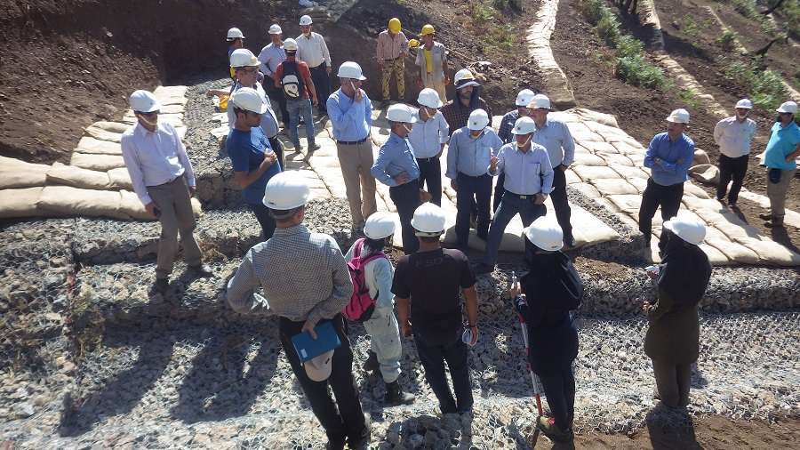 Seminar and Site Visit for Technical Information Sharing on Mountainous Erosion Control