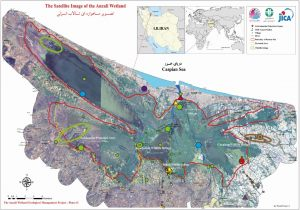 JPA Map of Anzali Wetland