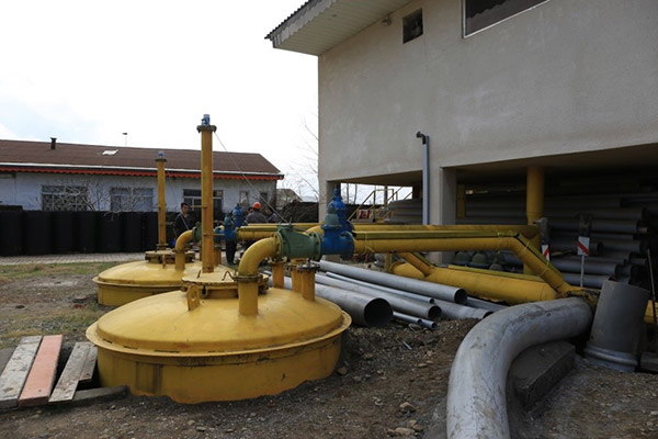 Construction Work of the Vacuum Sewage Collection System Anzali Wetland